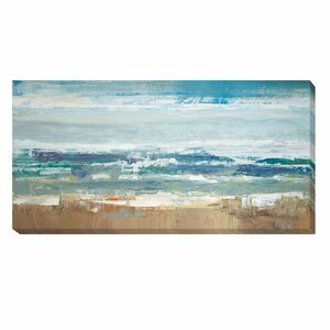 'Pastel Waves' by Peter Colbert Painting Print on Wrapped Canvas by Artistic Home Gallery
