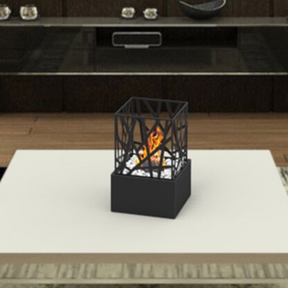 Bruno Ventless Portable Bio Ethanol Tabletop Fireplace by Regal Flame