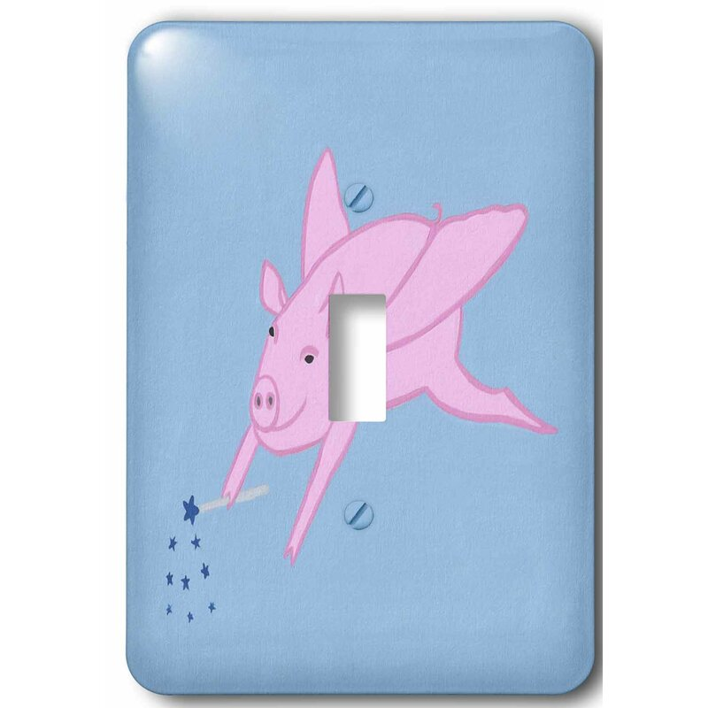 3drose Flying Pig With Magic Star Wand 1 Gang Toggle Light Switch Wall Plate Wayfair