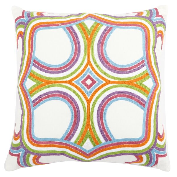 Embroidered Cotton Throw Pillow by A&B Home
