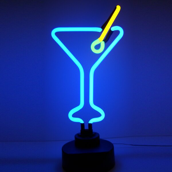 Business Signs Martini Glass Neon Sign by Neonetics
