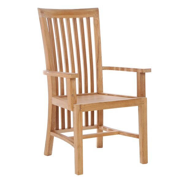 Naveen Teak Patio Dining Chair by Darby Home Co