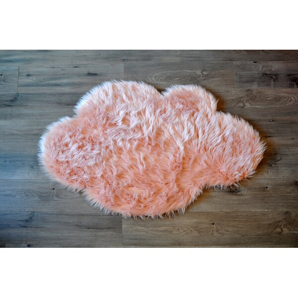 Faux Sheepskin Blush Area Rug by Kroma Carpets