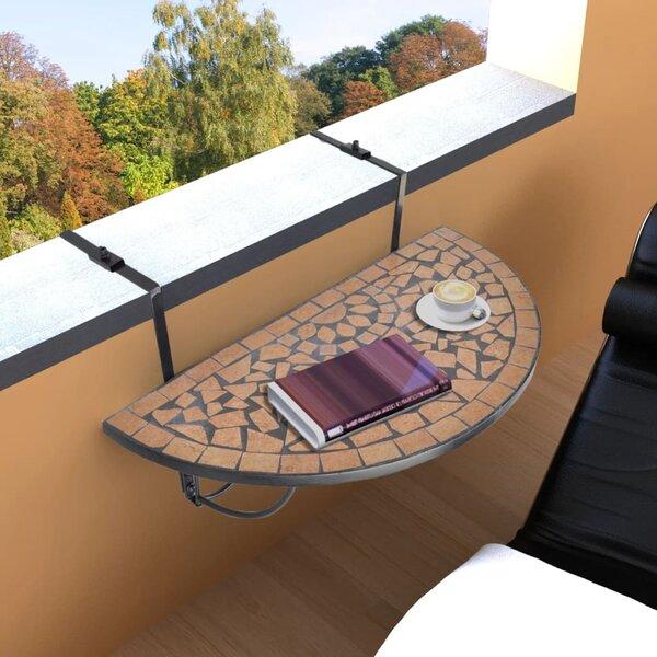 Valdovinos Folding Balcony Table by Fleur De Lis Living