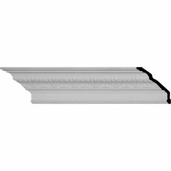 Palmetto Beaded 6 5/8H x 94 1/2W x 5 1/8D Crown Molding by Ekena Millwork