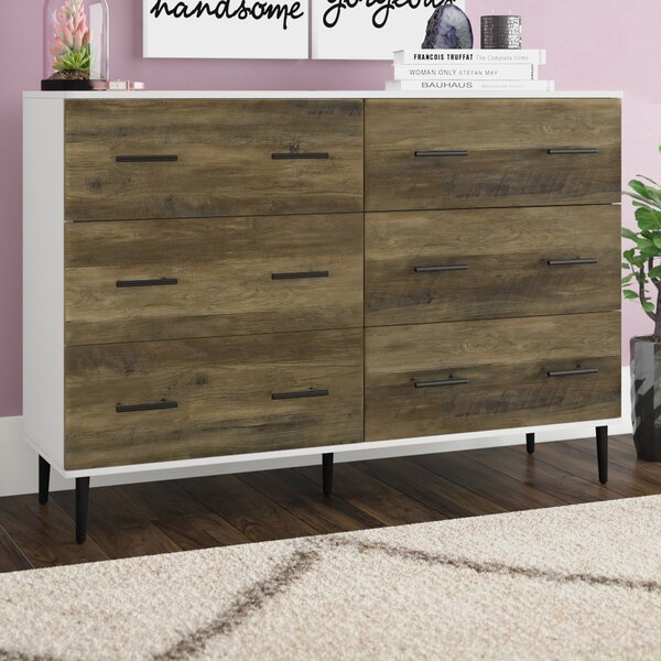 Marc Reclaimed 6 Drawer Double Dresser by Langley Street