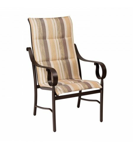 Ridgecrest Sling High-Back Patio Dining Chair by Woodard