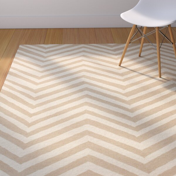 Brant Cream / Sand Chevron Area Rug by Corrigan Studio