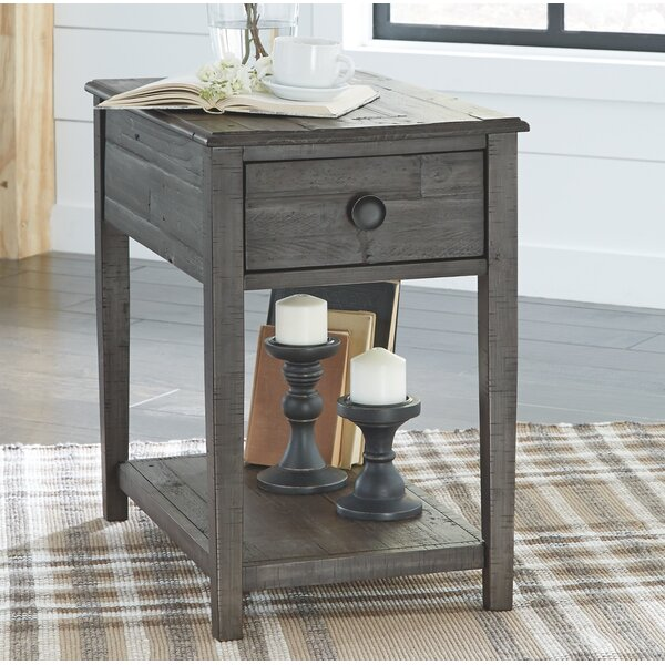 Quirion Solid Wood End Table With Storage By Gracie Oaks