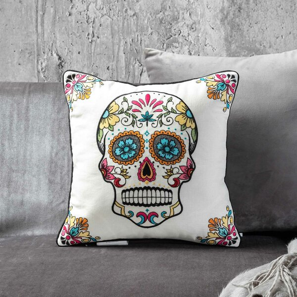 Mona Skull Throw Pillow by The Holiday Aisle