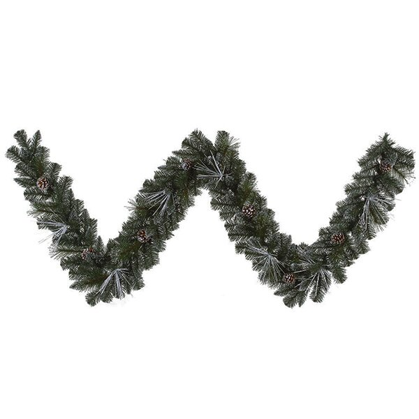 Frosted and Glittered Pine Christmas Garland with Lights by Vickerman