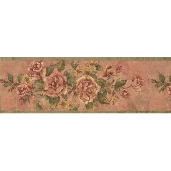 Hydrangea Bloomed Roses on Vine Wallpaper Border b