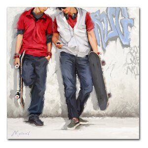 'Graffiti' Print on Wrapped Canvas by Ebern Designs
