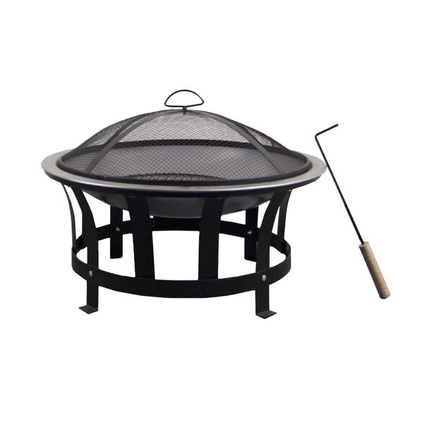 Steel Wood Burning Fire Pit By Astella