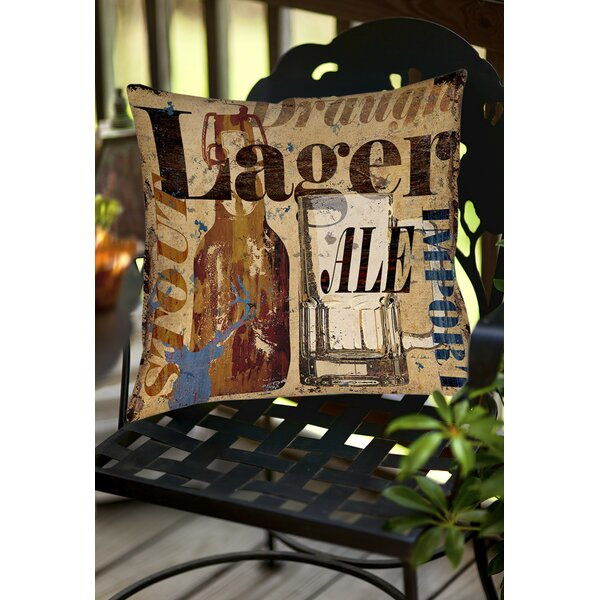 Old Lager Indoor/Outdoor Throw Pillow by Manual Woodworkers & Weavers