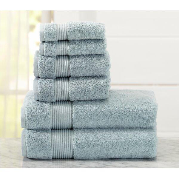 Paper Street 6 Piece Turkish Cotton Towel Set by Red Barrel Studio