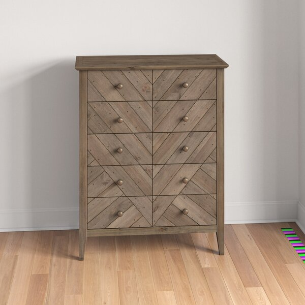 Kidsgrove Reclaimed Pine 5 Drawer Dresser by Three Posts Teen