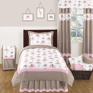 elephant pink comforter set