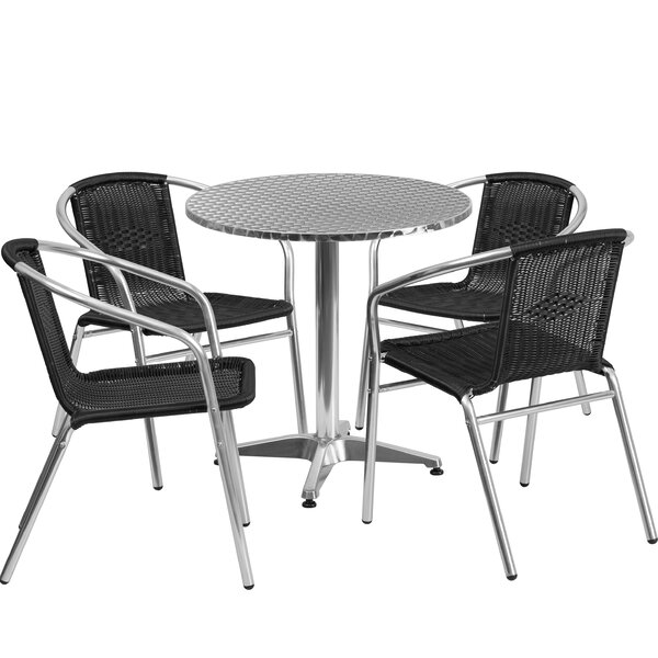 Akef 5 Piece Bistro Set by Red Barrel Studio