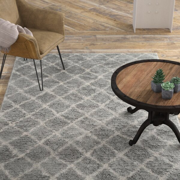 Lurdes Hand-Woven Light Gray/Ivory Area Rug by 17 Stories
