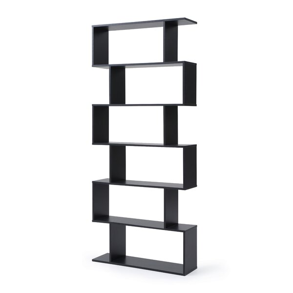 Deboer Staggered 6 Shelf Geometric Bookcase By Orren Ellis