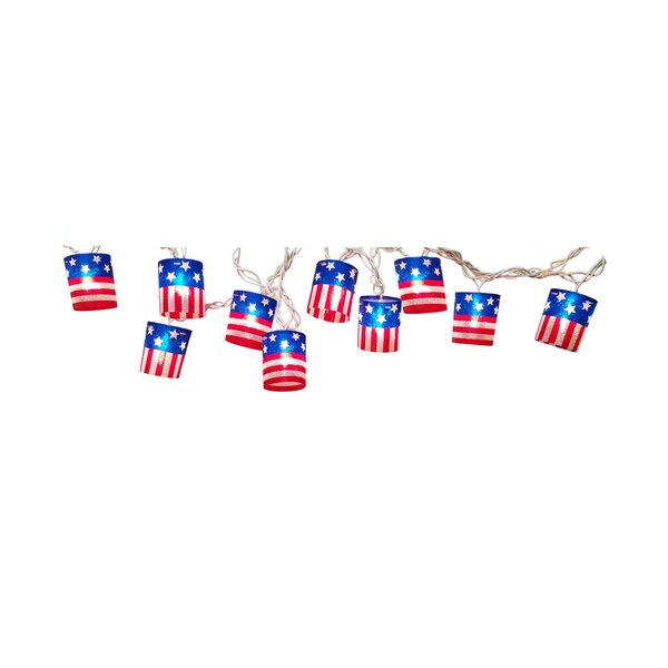 10 Mini Patriotic String Lights by The Holiday Aisle