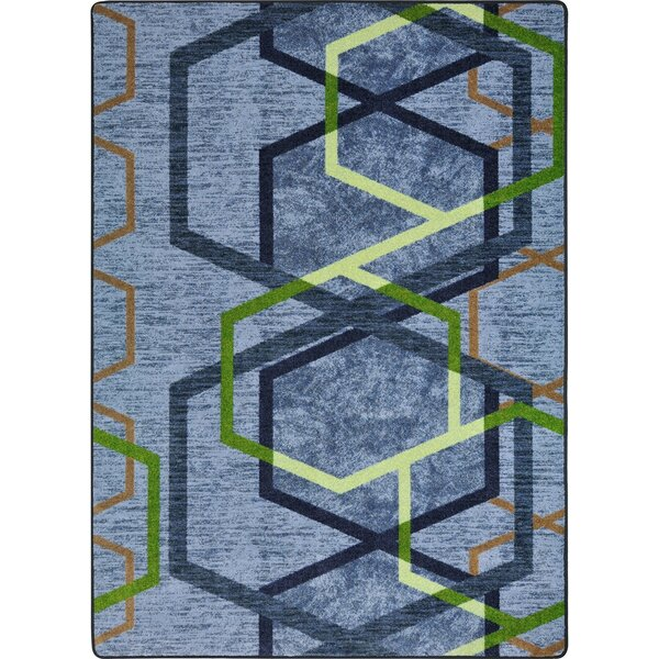 One-of-a-Kind Frasher Synthetic Blue/Green Area Rug by Ivy Bronx
