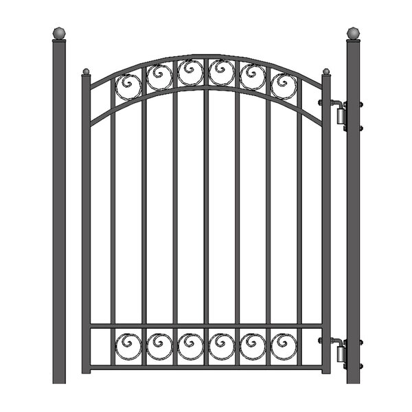 5 ft. H x 4.5 ft. W Dublin Steel Pedestrian Gate by ALEKO