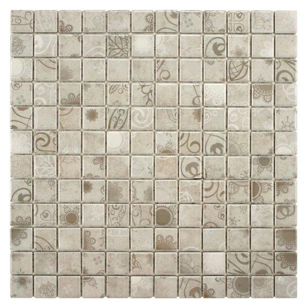 Filigree 0.9 x 0.9 Porcelain Mosaic Tile in Gray by EliteTile
