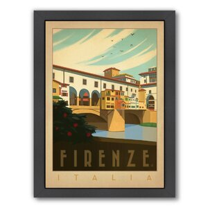 Italy Firenze Framed Vintage Advertisement by East Urban Home