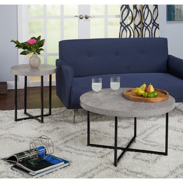 Quan 2 Piece Coffee Table Set by Wrought Studio