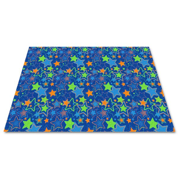 Blue Seating Stars Area Rug by Kid Carpet