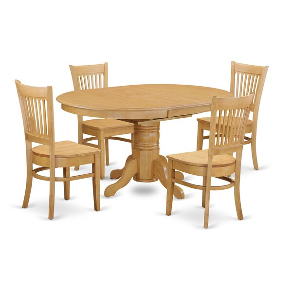 Spurling 5 Piece Dining Solid Wood Dining  Set by August Grove
