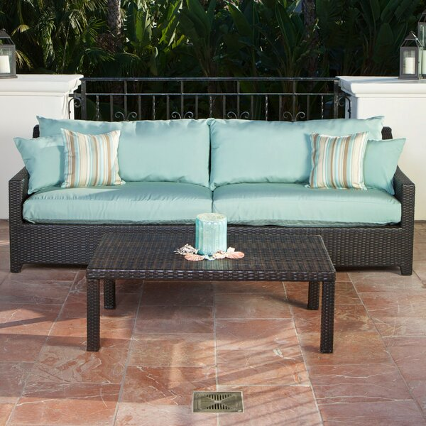 Northridge 3 Piece Deep Sunbrella Seating Group with Cushions by Three Posts