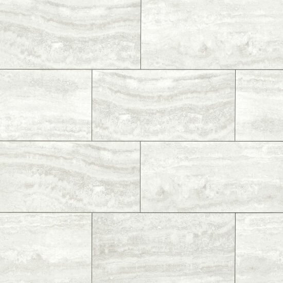 Wyette 12 x 24 Porcelain Field Tile in Polished Silver by Grayson Martin