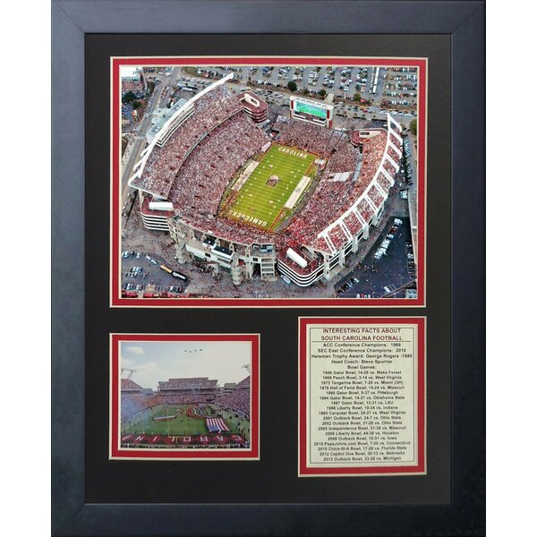 South Carolina Gamecocks Williams-Brice Stadium Framed Memorabilia by Legends Never Die