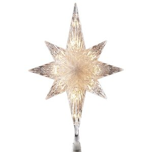 lighted clear faceted bethlehem star christmas tree topper - Christmas Tree Topper Star