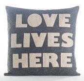 Celebrate Everyday Love Lives Here Throw Pillow by Alexandra Ferguson