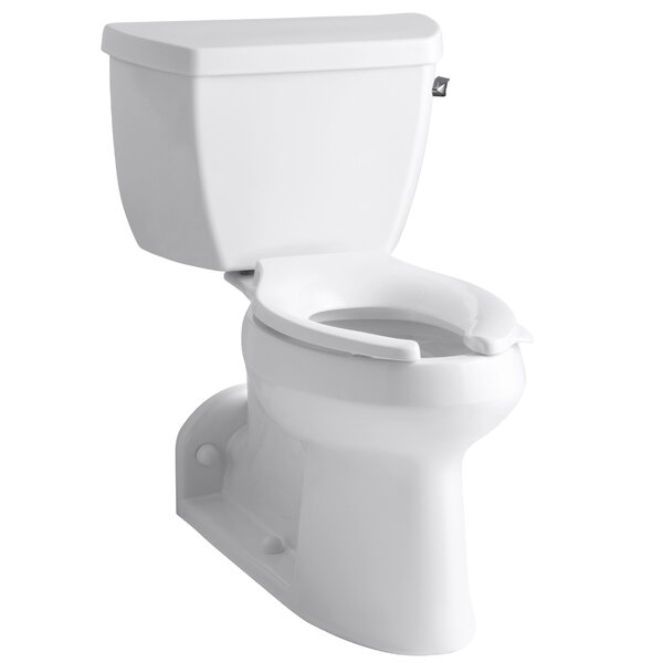Barrington Comfort Height Two-Piece Elongated 1.0 GPF Toilet with Pressure Lite Flushing Technology and Right-Hand Trip Lever by Kohler
