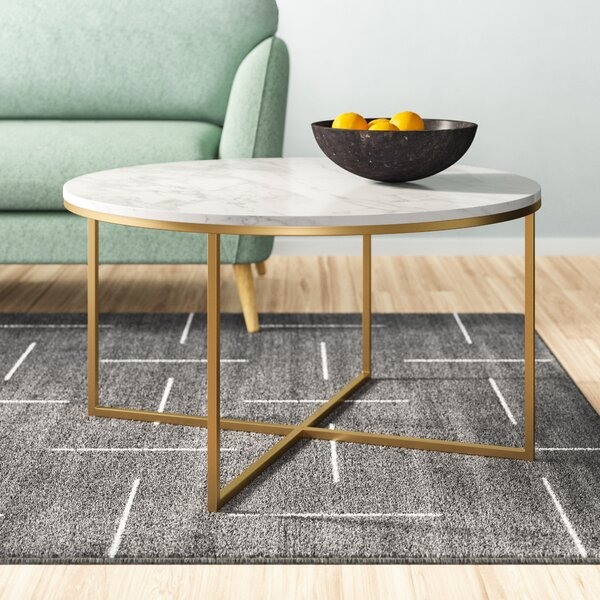 Wasser Cross Legs Coffee Table By Mistana