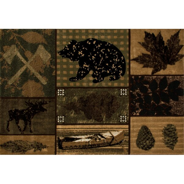 Raritan Brown/Black Are Rug by Loon Peak