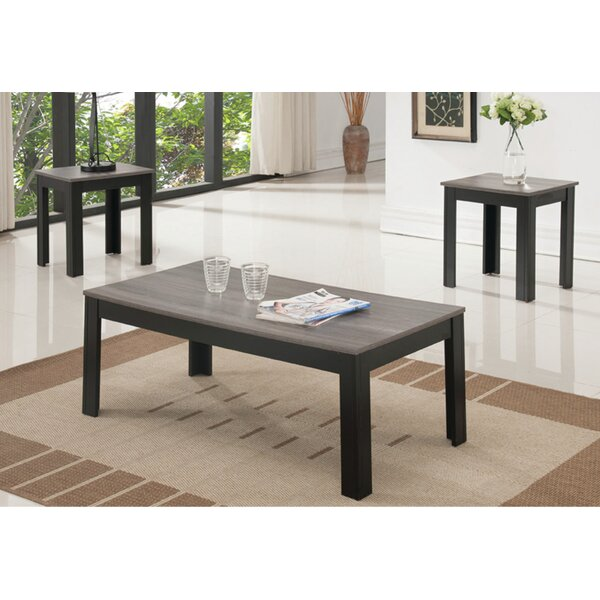 Gunilla Reclaimed Wood Look 3 Piece Coffee Table Set by Red Barrel Studio Red Barrel Studio