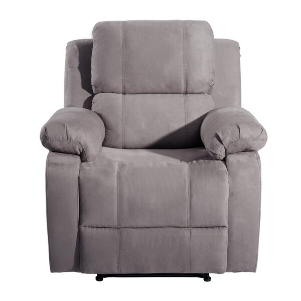 Azizi Faux Leather Manual Recliner with Massage and Heating W003097828