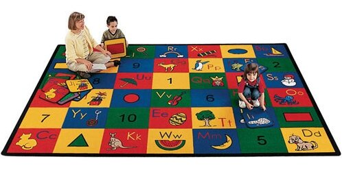 Carpet Kits Shape / Number Block Carpet Squares by Carpets for Kids