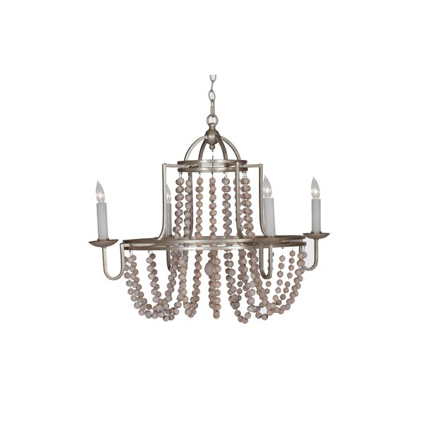 Sonya 4-Light Candle Style Wagon Wheel Chandelier By Gabby