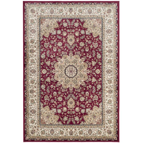 Carolus Red/Beige Area Rug by Darby Home Co