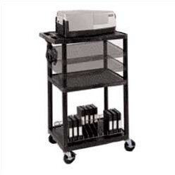 Multi-Height Open Shelf Table AV Cart by Luxor