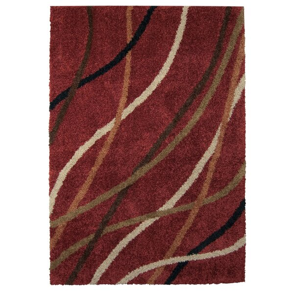 Brookhaven Red Area Rug by Threadbind