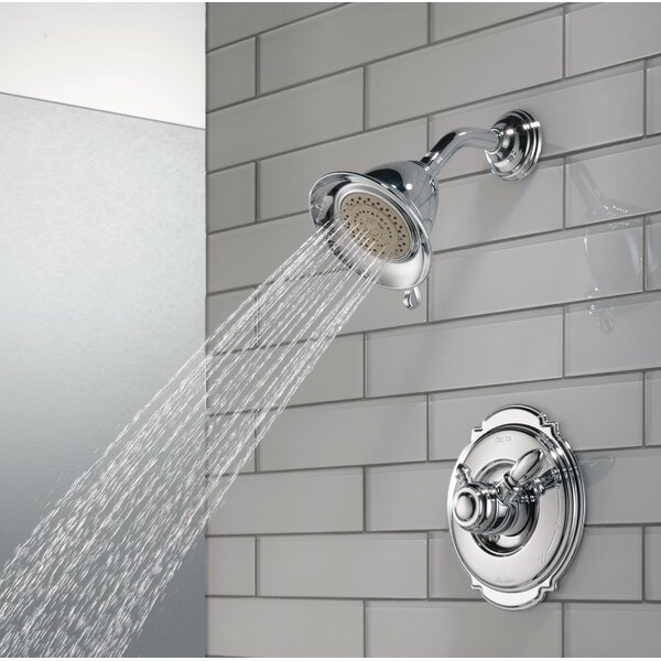 Victorian Pressure Balanced Diverter Shower Faucet Trim with Lever Handles and H2okinetic Technology by Delta