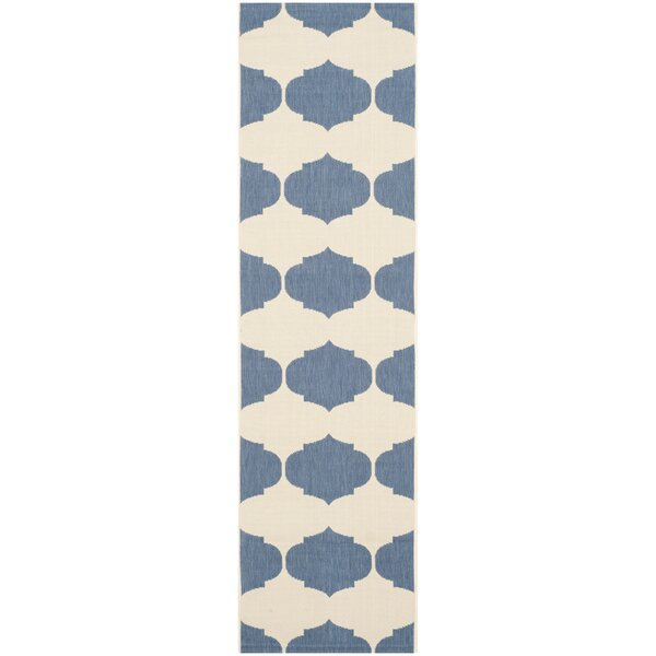 Short Beige/Blue Contemporary Rug by Winston Porter